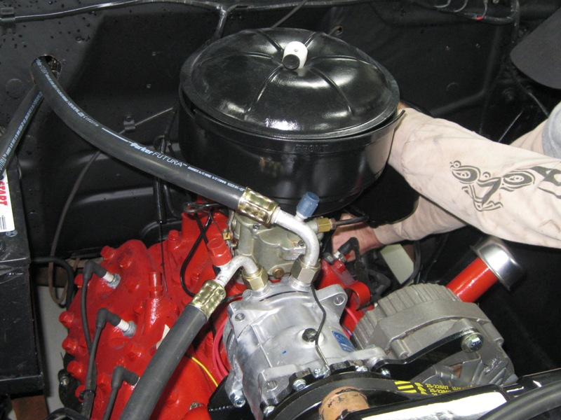 1951 Ford F1 Pickup Installing The Air Conditioning