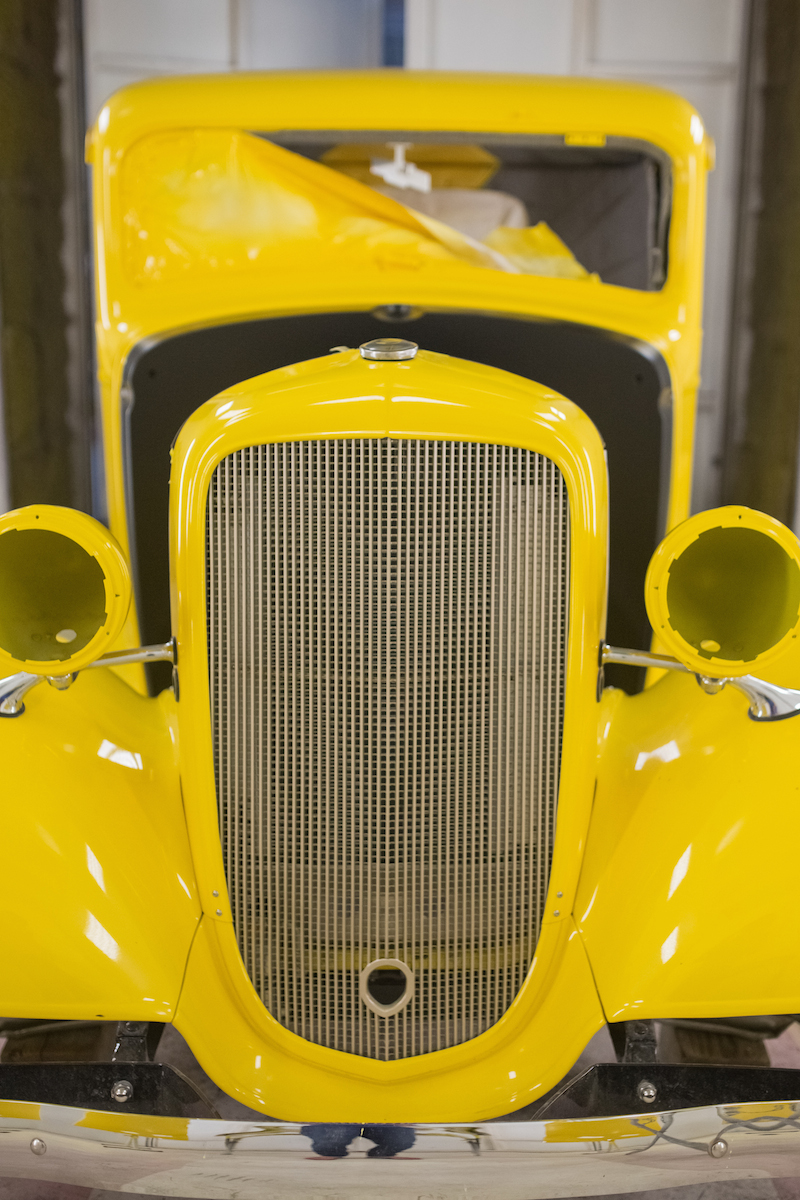 1936 Chevy Hot Rod Pickup – Grill Shell Before and After ...