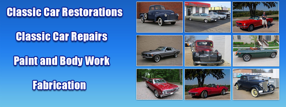 Classic Car Restorations, Classic Car Repairs, Paint and Body Work, Fabrication