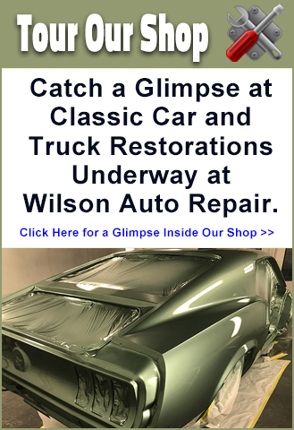 Tour the Wilson Auto Repair Classic Car and Truck Restoration Projects of the Month at the Shop